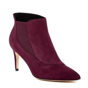 Sigerson Morrison Staly Bootie in Berry Suede Sz10